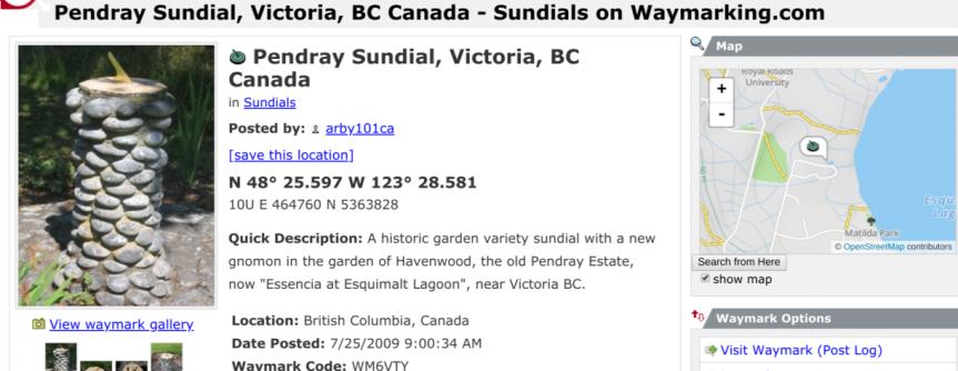 Pendray Sundial